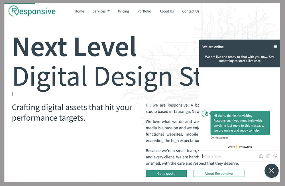 Responsive, Tauranga digital design studio - Blog post, We Now Have Live Chat!