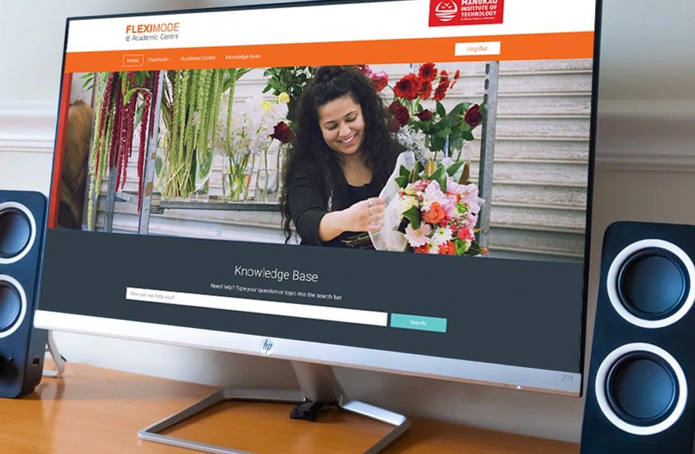 Responsive, Tauranga digital design agency. Client project  - MIT - Fleximode, Custom Designed Wordpress Website, MIT Fleximode, homepage on desktop