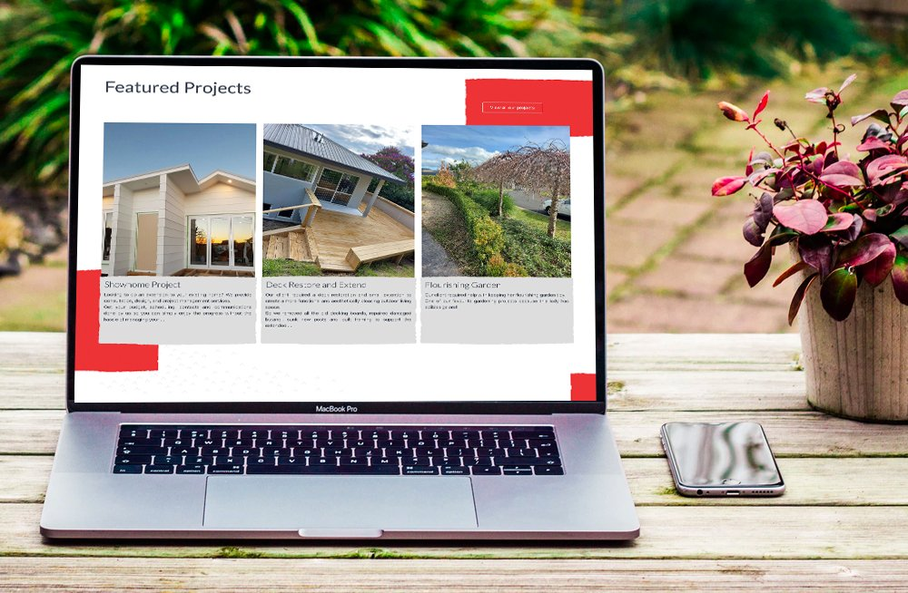 Responsive, Tauranga digital design agency. Client project  - Bay Property Projects, Website design & development, web hosting, Bay Property Projects latest projects on laptop