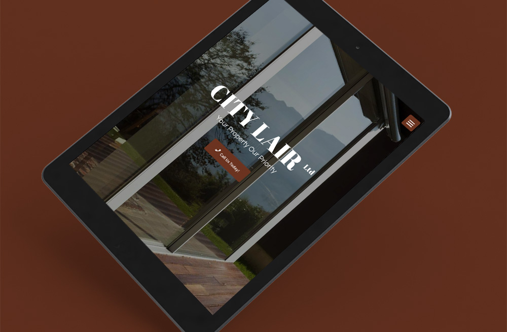 Responsive, Tauranga digital design agency. Client project  - City Lair, Custom theme, website development, web hosting, graphic design, website homepage on tablet