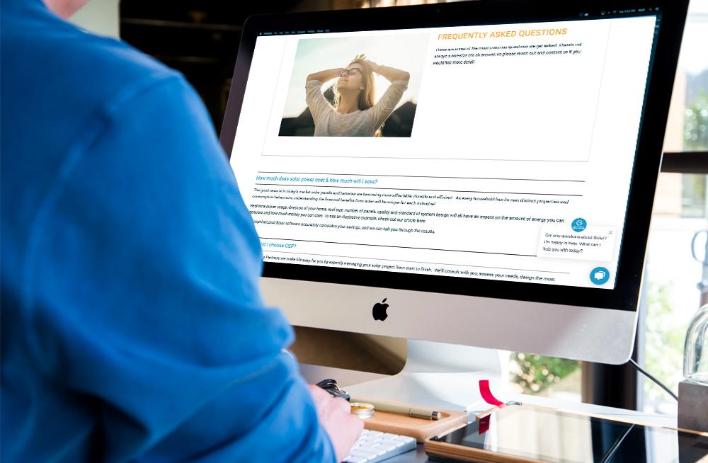 Responsive, Tauranga digital design agency. Client project  - Clean Energy Partners, Website design & development, web hosting, faq page on desktop