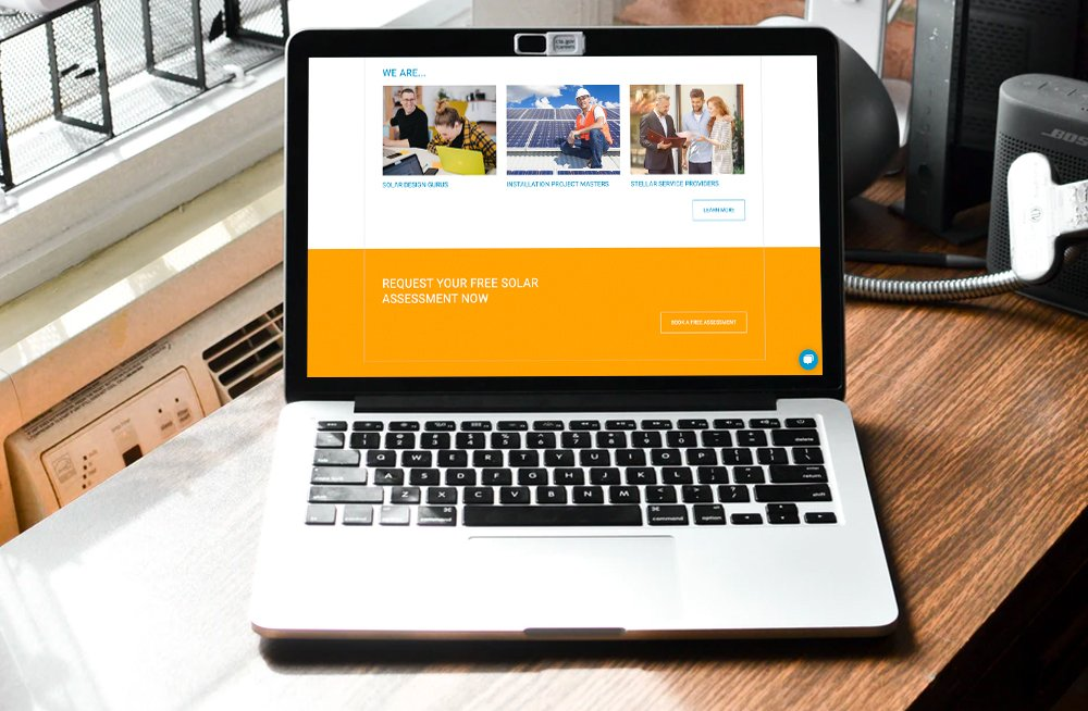 Responsive, Tauranga digital design agency. Client project  - Clean Energy Partners, Website design & development, web hosting, homepage call to action on desktop
