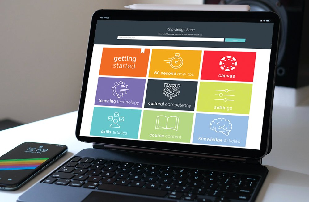 Responsive, Tauranga digital design agency. Client project  - MIT - Fleximode, Custom Designed Wordpress Website, MIT Fleximode, knowledge base page on laptop