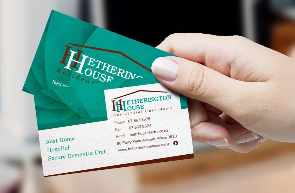 Responsive, Tauranga digital design agency. Client project  - Hetherington House, Website design & development, web hosting, graphic design, graphic design business cards