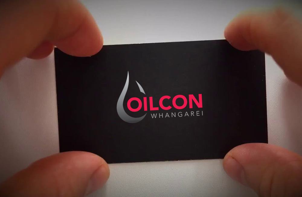 Responsive, Tauranga digital design agency. Client project  - Oilcon Ltd, Graphic design, Branding, logo on a business card