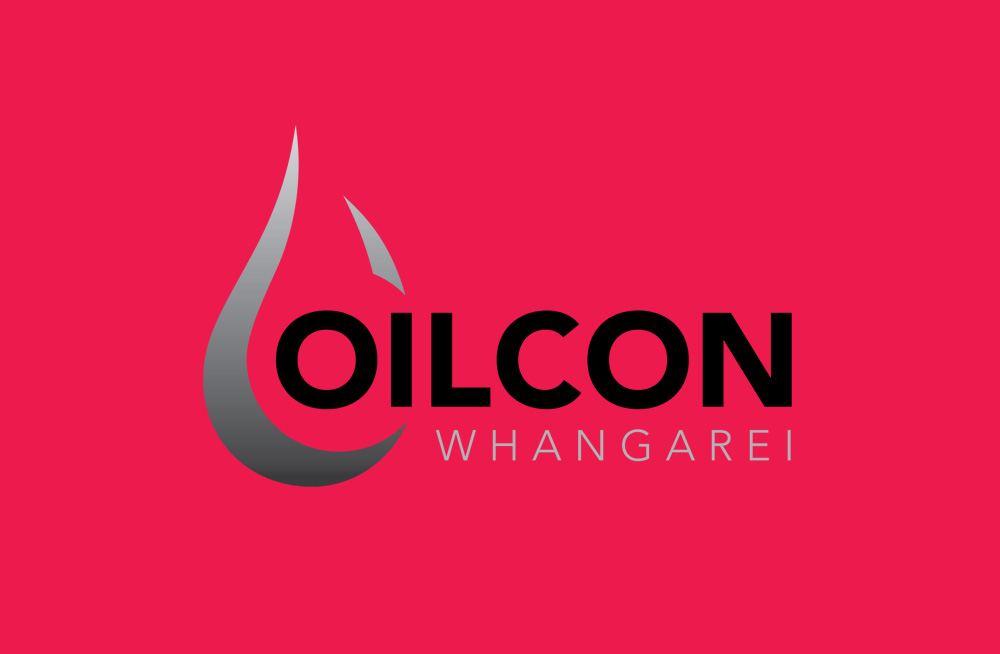 Responsive, Tauranga digital design agency. Client project  - Oilcon Ltd, Graphic design, Branding, logo on a pink background
