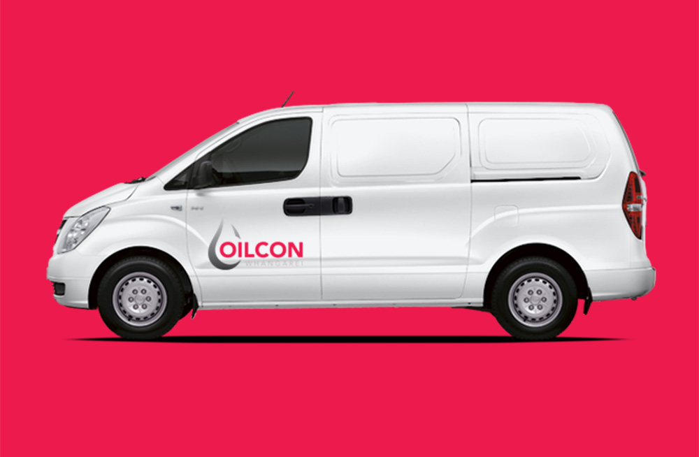 Responsive, Tauranga digital design agency. Client project  - Oilcon Ltd, Graphic design, Branding, logo on the side of a van