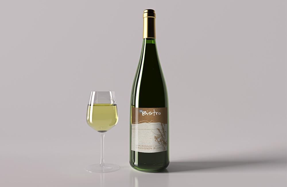 Responsive, Tauranga digital design agency. Client project  - The Bistro, Graphic design, graphic design,  wine bottle label