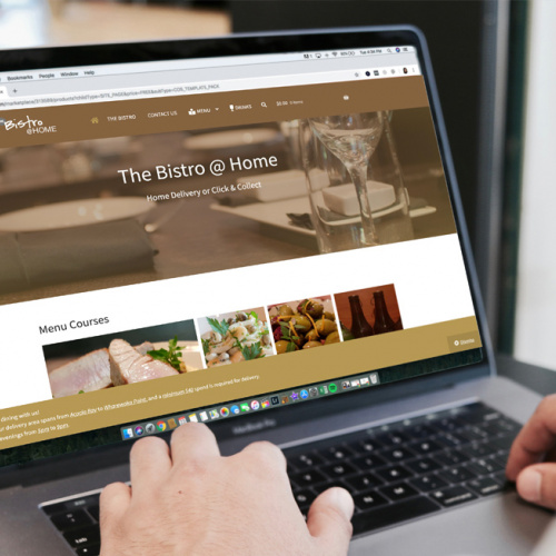 Responsive, Tauranga digital design agency. Client project  - The Bistro @ Home, Website development, eCommerce, web hosting