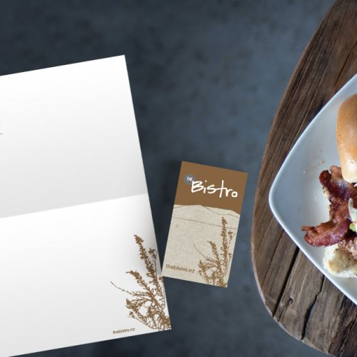 Responsive, Tauranga digital design agency. Client project  - The Bistro, Graphic design