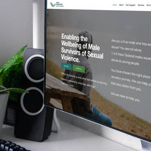 Responsive, Tauranga digital design agency. Client project  - Male Survivors Bay Of Plenty, Website development, Web hosting